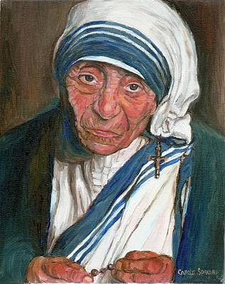 Mother Theresa Painting - Mother Teresa by Carole Spandau
