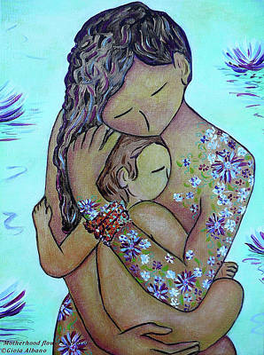 Painting - Motherhood Flowers All Over by Gioia Albano