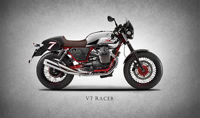 Moto Guzzi V7 Racer Art Print