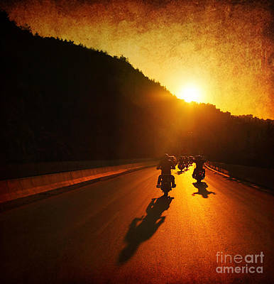 Motorcycle Ride Art Print