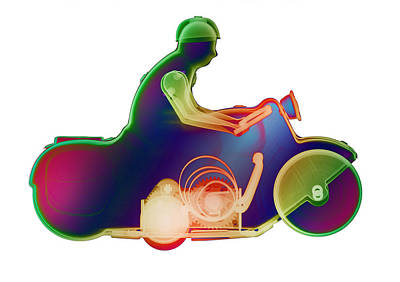 Photograph - Motorcycle X-ray No. 5 by Roy Livingston