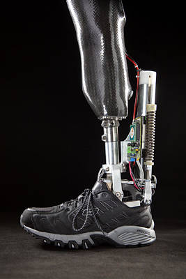 Motorized Springs In A Powered Ankle Print by Mark Thiessen