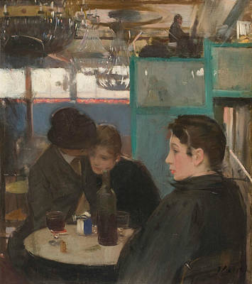 Table Wine Painting - Moulin De La Galette Interior by Ramon Casas