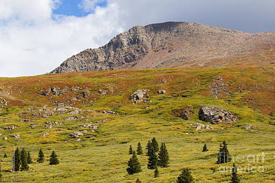Steven Krull Royalty-Free and Rights-Managed Images - Mount Bierstadt in the Arapahoe National Forest by Steven Krull