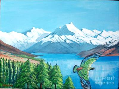 Painting - Mount Cook, New Zealand by Jean Pierre Bergoeing