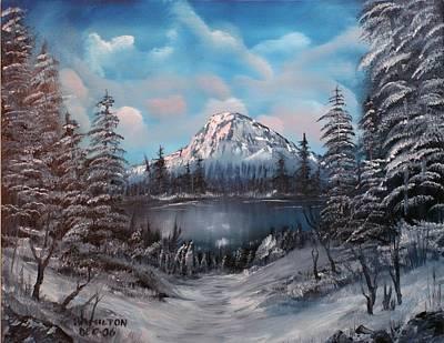 Mt Hood Painting - Mount Hood Oregon by Larry Hamilton