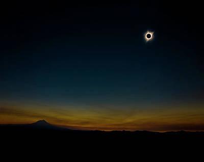 Mount Jefferson Solar Eclipse Art Print