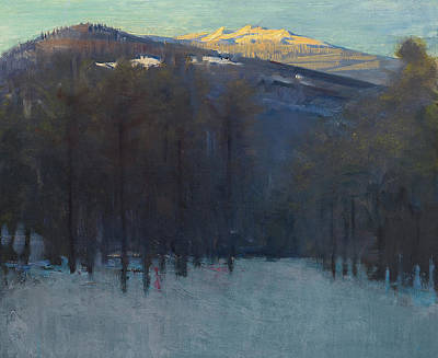 Snow Scene Painting - Mount Monadnock by Abbott Handerson Thayer