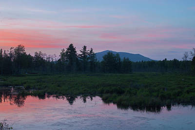 Photograph - Mount Monadnock Spring Sunset by John Burk