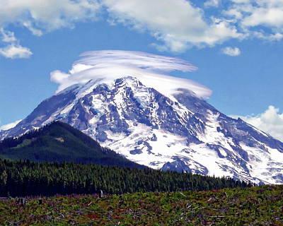Photograph - Mount Rainier  by Anthony Dezenzio