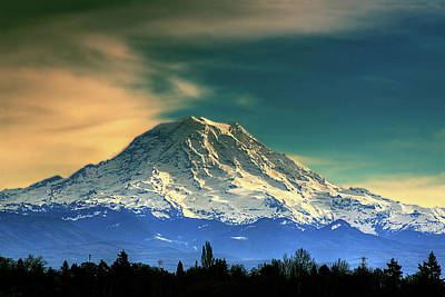 Photograph - Mount Rainier by David Patterson
