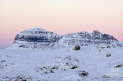 Snowy Night Photograph - Mount Suilven In Winter by Duncan Shaw