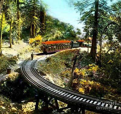 Mount Tamalpais Railway In The 1890s California Art Print