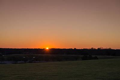 Blue Skies Photograph - Mount Trashmore Sunrise by Michael Scott