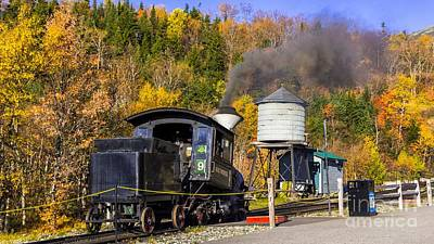 Photograph - Mount Washington Cog Railway. by New England Photography