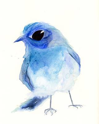 Painting - Mountain Bluebird by Dawn Derman