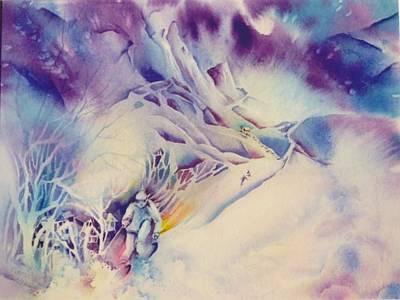 Mountain-freedom Art Print by Nancy Newman