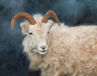 Goat Painting - Mountain Goat by David Stribbling