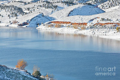 Photograph - Mountain Lake In Winter Scenery by Marek Uliasz