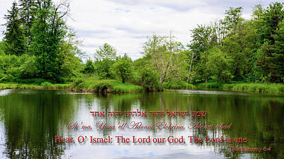 Photograph - Mountain Lake Prayer by Tikvah's Hope