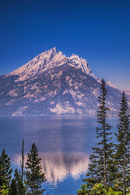 Mountain Royalty-Free and Rights-Managed Images - Mountain Reflection by Andrew Soundarajan