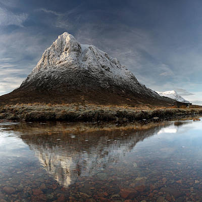 Photograph - Mountain Reflection by Grant Glendinning