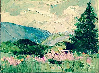 Painting - Mountain Spring by Sally Fraser