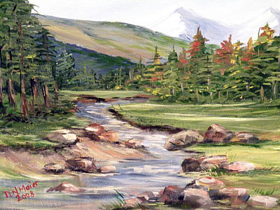 Painting - Mountain Stream by Dorothy Maier