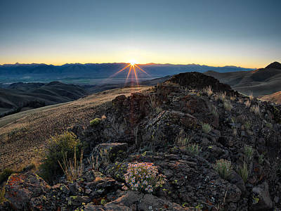 Lost River Mountains Photograph - Mountain Sunrise by Leland D Howard