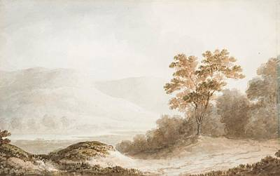 Barker Painting - Mountainous Landscape With Lake by Benjamin Barker
