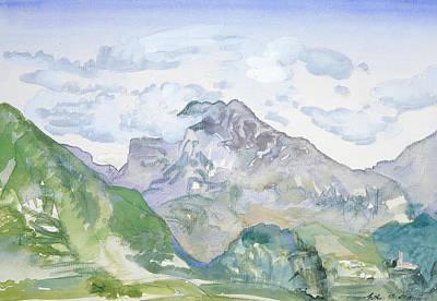 Drawing - Mountains by Arthur Bowen Davies