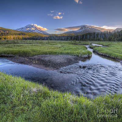 Mountains From Soda Creek Art Print by Twenty Two North Photography