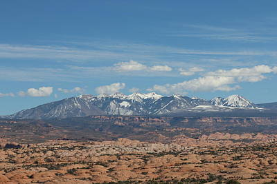 Photograph - Mountains In Moab - 2 by Christy Pooschke