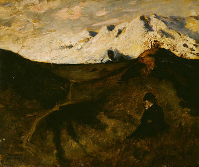 Painting - Mountains Near Innsbruck by Eilif Peterssen