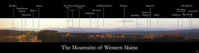 Photograph - Mountains Of Western Maine by John Meader