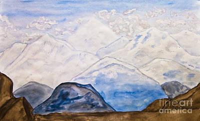 Painting - Mountains, Painting by Irina Afonskaya