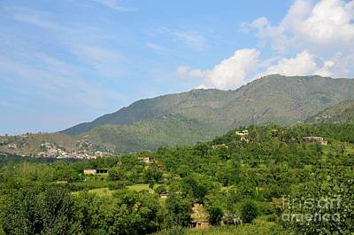 Photograph - Mountains Sky And Homes In Village Of Swat Valley Khyber Pakhtoonkhwa Pakistan by Imran Ahmed