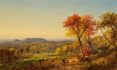 Eve Painting - Mounts Adam And Eve by Jasper Francis Cropsey