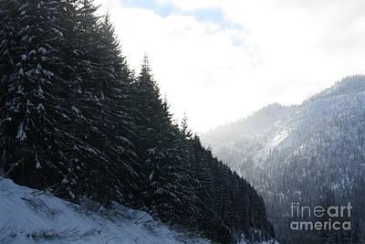 Mounts And Snow Art Print by Igor Baranov