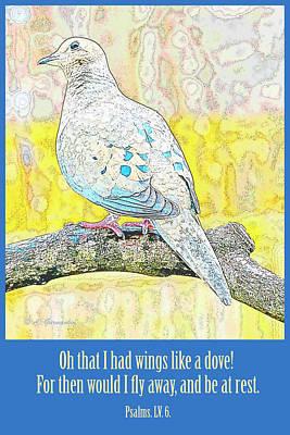 Digital Art - Mourning Dove Psalms Lv 6 by A Gurmankin