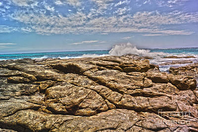 Mouth Of Margaret River Beach II Art Print by Cassandra Buckley