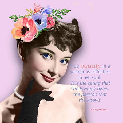 Movie Star Art - Audrey Hepburn Art Print