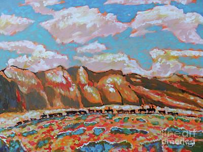 Maynard Dixon Painting - Moving The Herd by Kip Decker