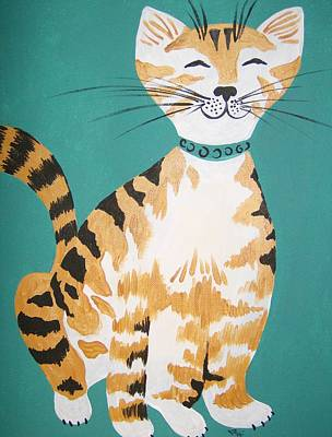 Art Print featuring the painting Mr. Tabby by Leslie Manley