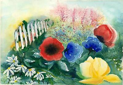 Painting - Mrs. Good's Garden by Judith Kerrigan Ribbens