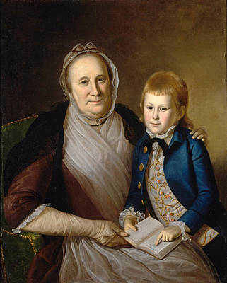 Painting - Mrs. James Smith And Grandson  by Charles Willson Peale