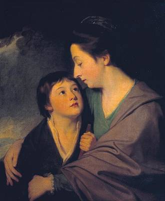 Mrs Richard Cumberland And Her Son Charles Art Print by George Romney