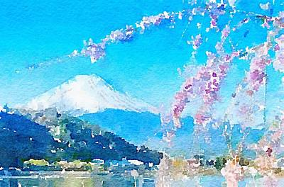 Photograph - Mt. Fuji With Cherry Blossoms by Rich Governali