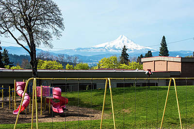 Photograph - Mt Hood From White Salmon by Tom Cochran