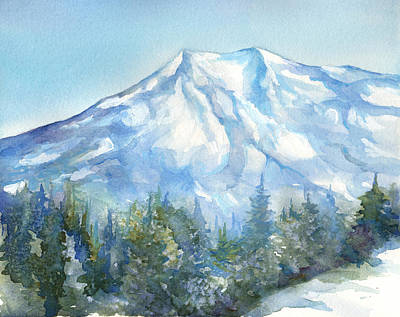 Painting - Mt. Rainier by Peggy Wilson